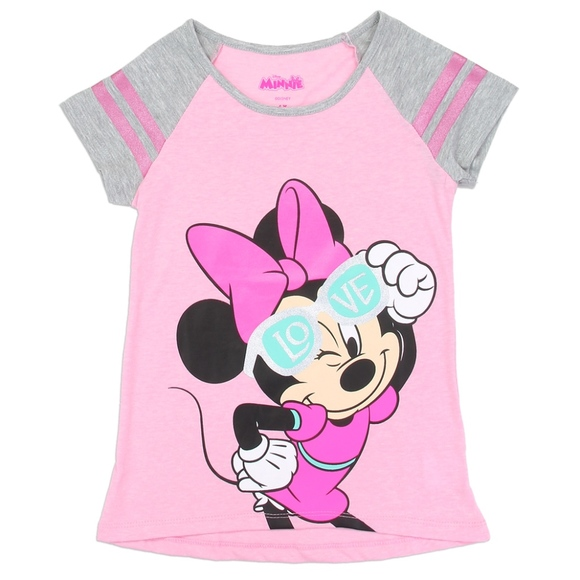 e74eb32243 PINK Minnie Mouse Girls Toddler T-Shirt